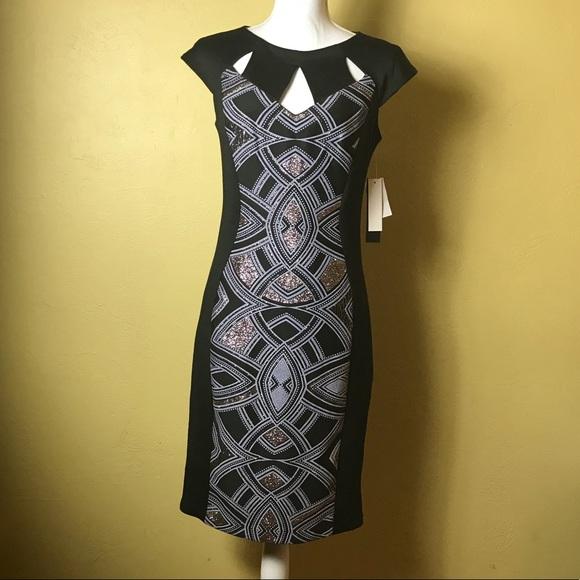 5abd5821fb Jax Black Label Dress Size 8 Cap Sleeves Glitter